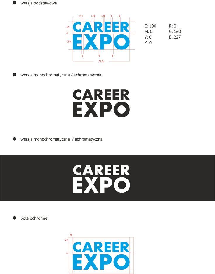 Specyfikacja logotypu Career EXPO, in. fragment brandbooka :)
