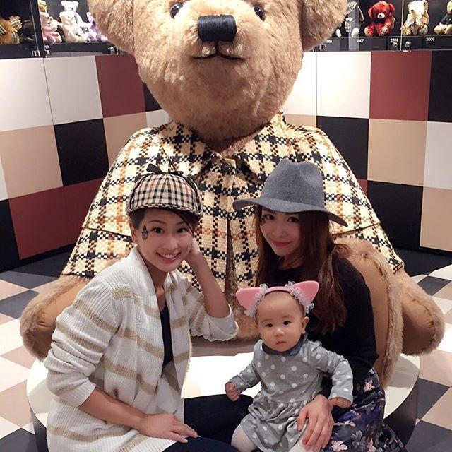 大きなテディベアと♡世界に2体しかないらしい!めっちゃかわいい♡ #DAKSテディベアフォトコンテスト #阪急百貨店