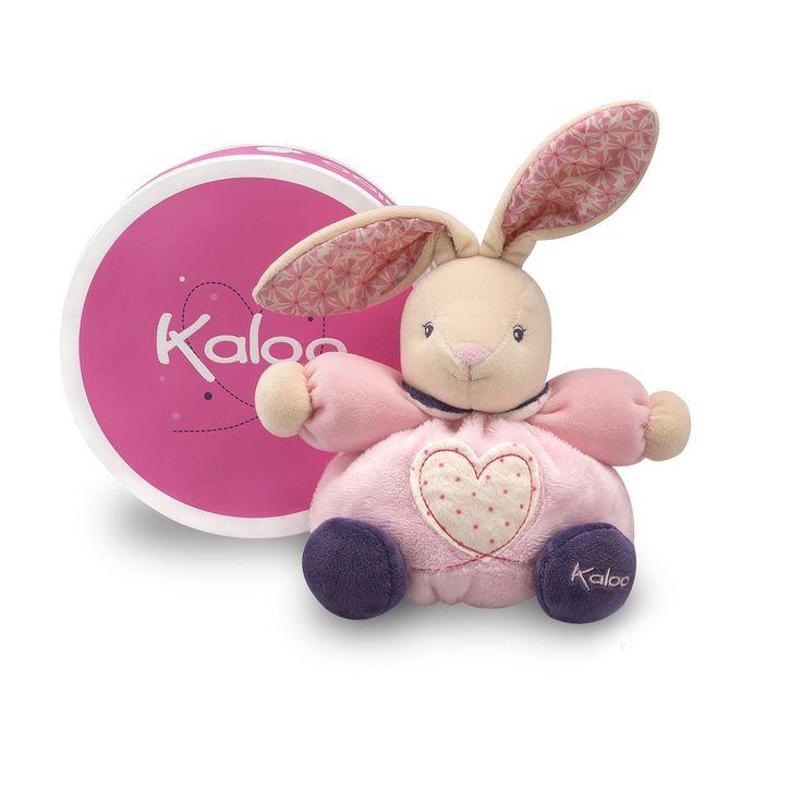 P'tit lapinou - Petite #rose #doudou #kaloo #peluche #lapin #fleur
