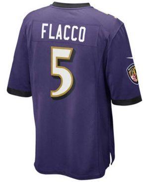 Nike Kids' Joe Flacco Baltimore Ravens Game Jersey - Purple S