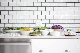 Image result for white tiles black grout kitchen