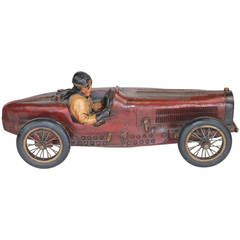 Vintage Racing Bugatti Model with Driver with Provenance