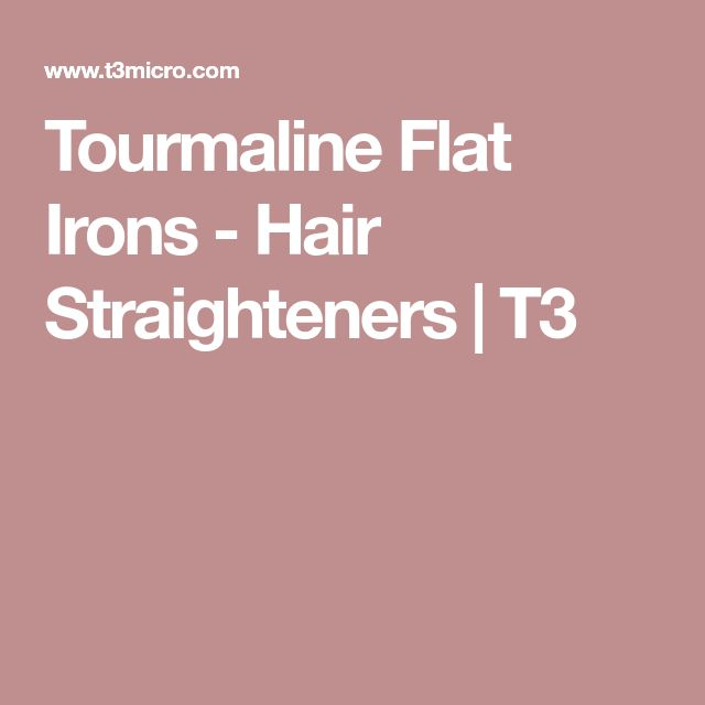 Tourmaline Flat Irons - Hair Straighteners | T3