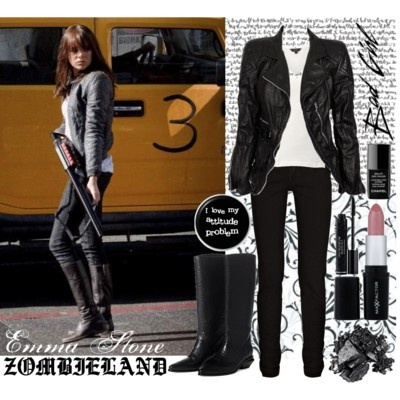 Emma Stone's Zombieland outfit.