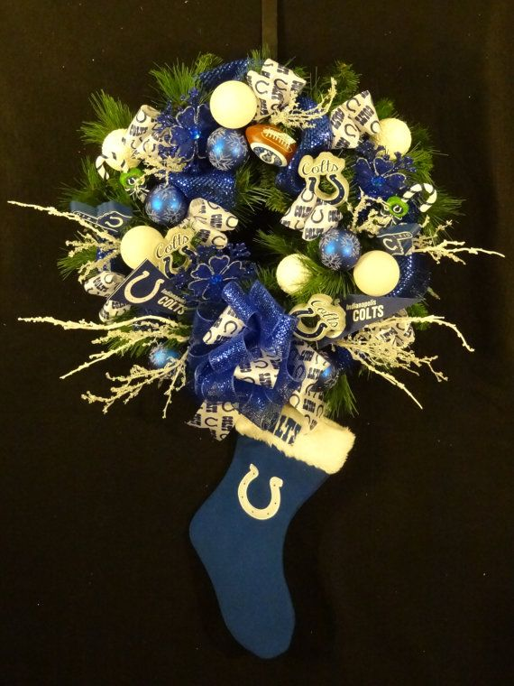Hey Colts Fans  Indianapolis Colts Lighted by DesignsbyHEartWorks