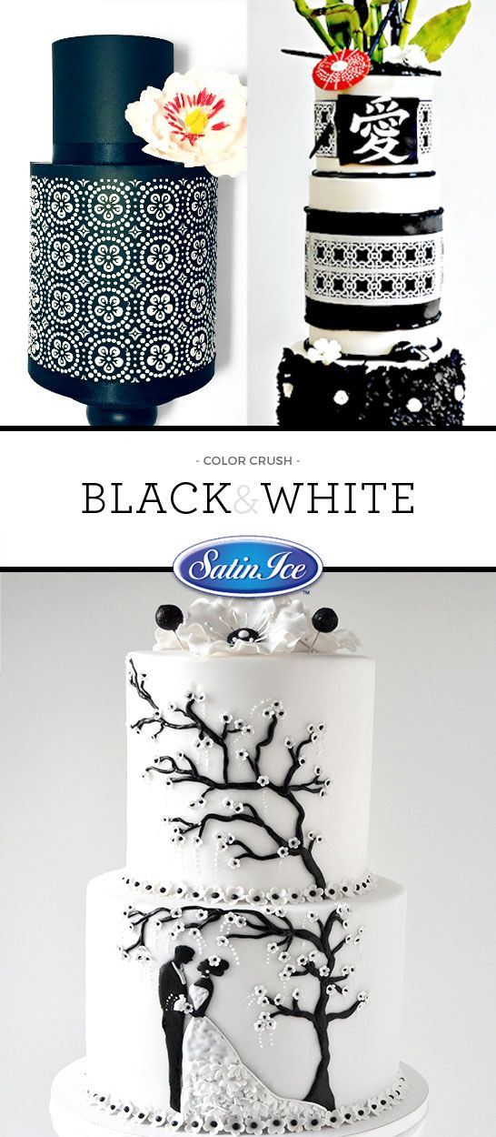 Tell a story on your cake with a simple black and white palette!