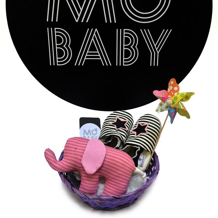 Cesta recién nacido Elefantito Rosa star