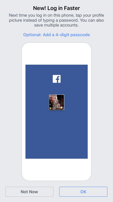 Facebook iOS splash screen/onboarding