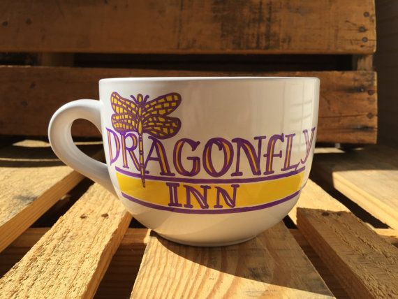 Enjoy these hand-painted Lukes Diner OR Dragonfly Inn mugs from Gilmore Girls as you settle into your 5th+ cup of coffee for the morning! Lukes