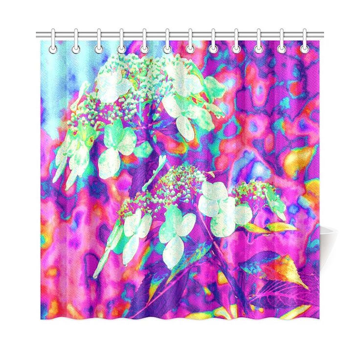 Shower Curtains Stylish Printed Fabric Waterproof Bathtub Curtain