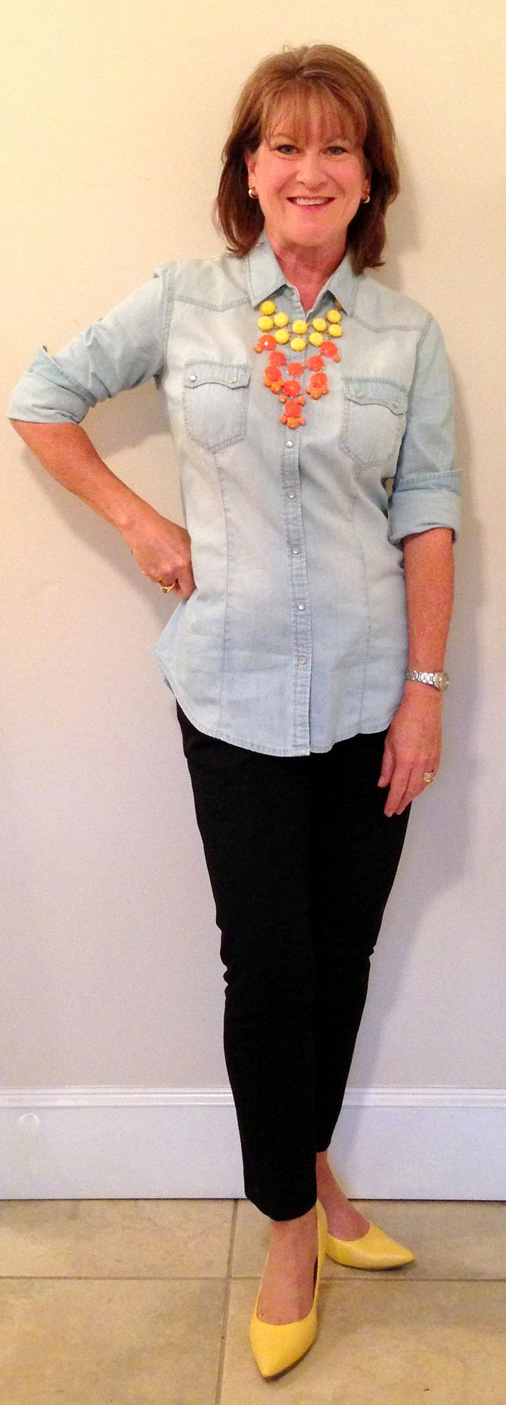 chambray outfits for women | oh chambray how i love you the versatility of a good chambray shirt ...