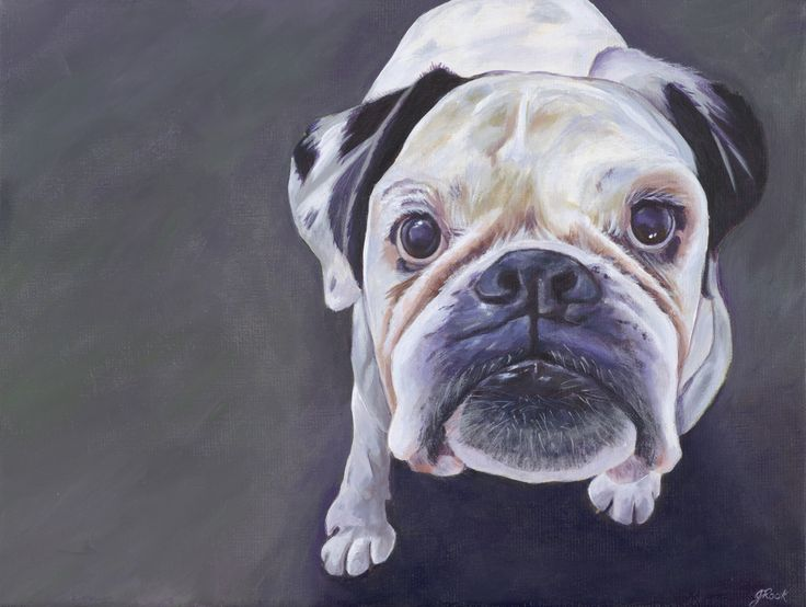 """Kik"" Acrylic on canvas 30 x 40 cma"