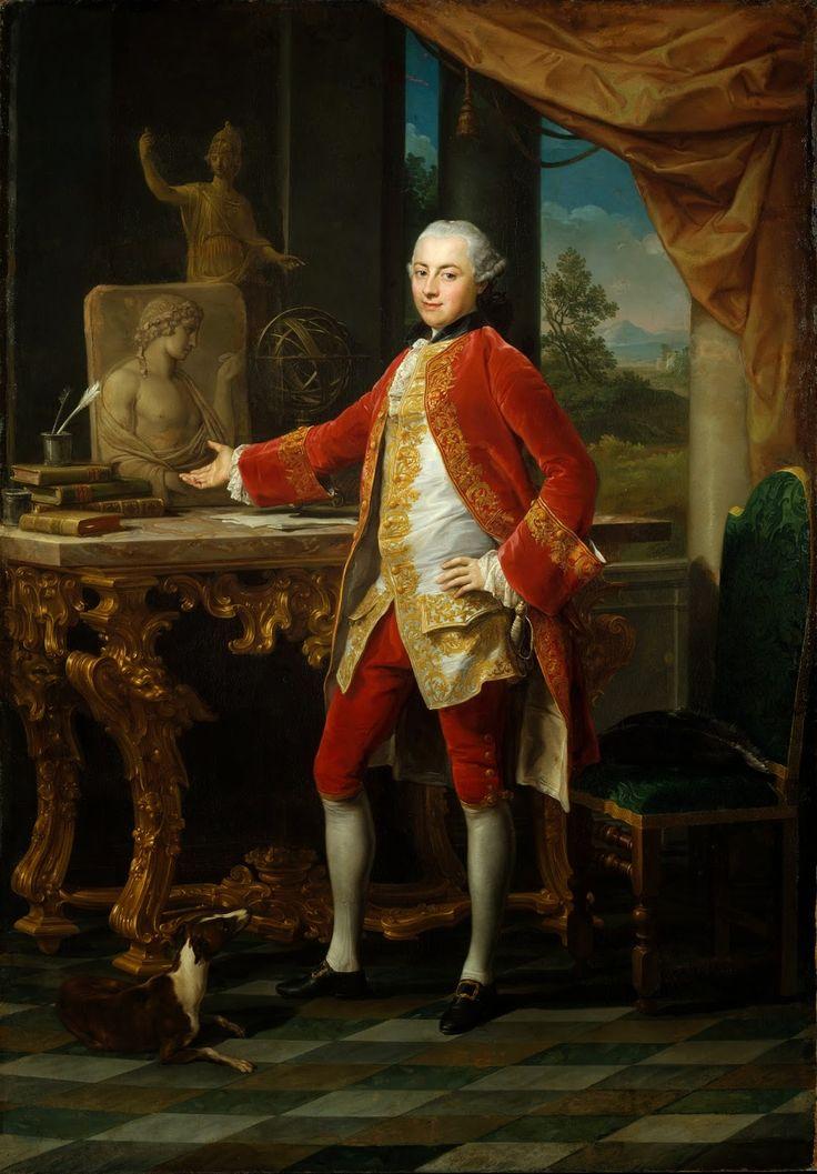 Pompeo Batoni - Portrait of a Young Man [c.1760-65]  #18th #Classic #Painting #Pompeo #Batoni #Portrait