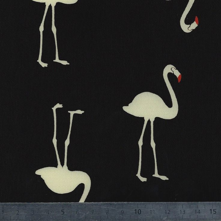 Viscose flamingos 20 x 140 cm
