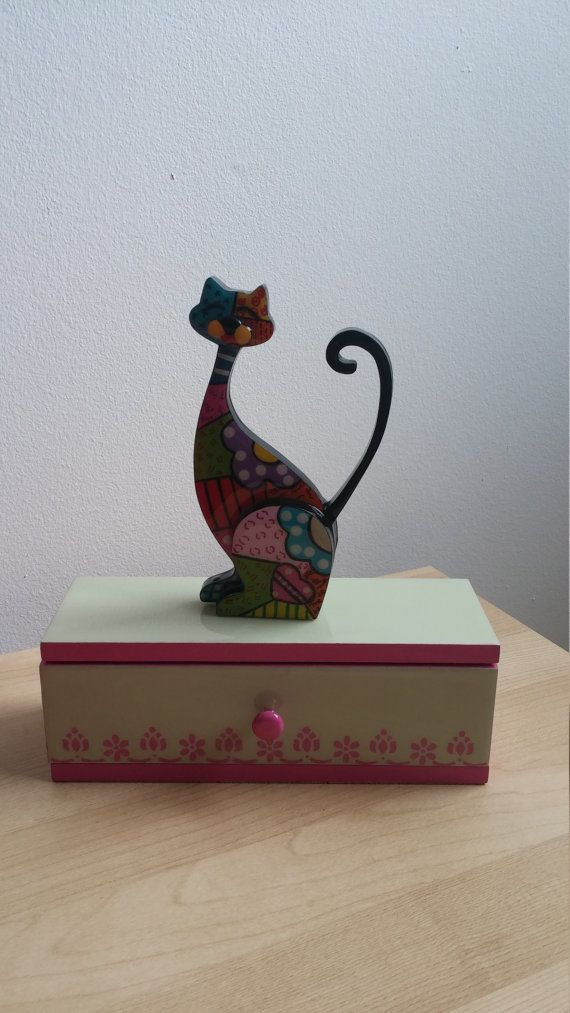 cat jewelry box by CraftsElisa on Etsy