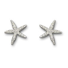 holly starfish earings swarovski crystal... i'd wear you everyday