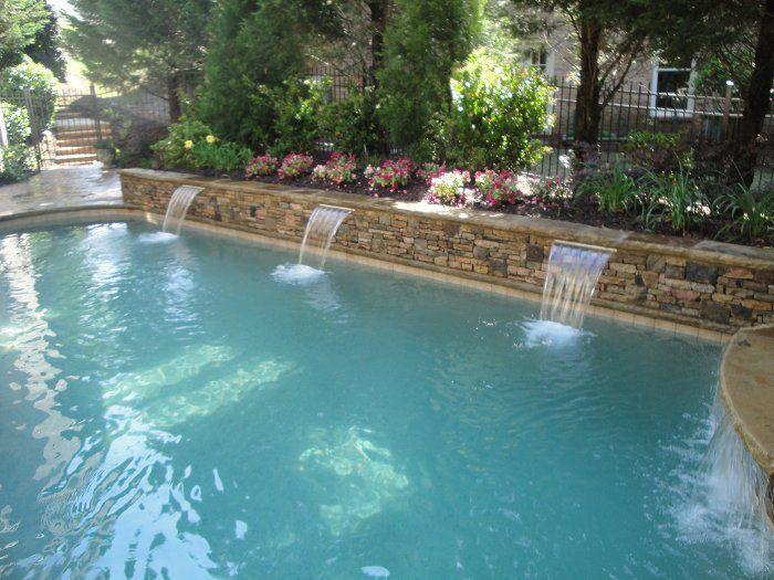 Best 25 pool fountain ideas on pinterest swimming pool - Swimming pool water feature ideas ...