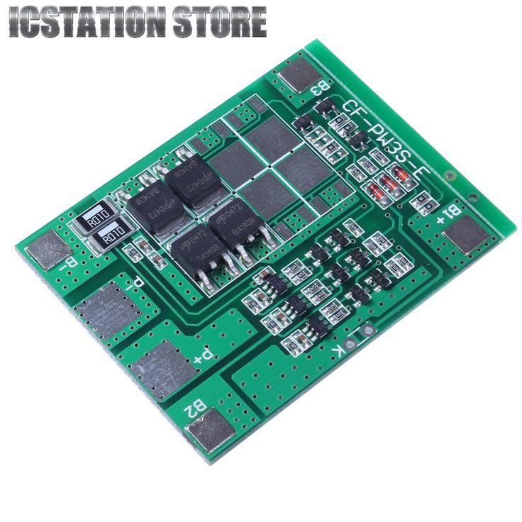 12A 3 S 18650 Li-ion Baterai lithium Cell Charger Perlindungan Papan PCB Baterai Polimer Lithium Pengisian Modul