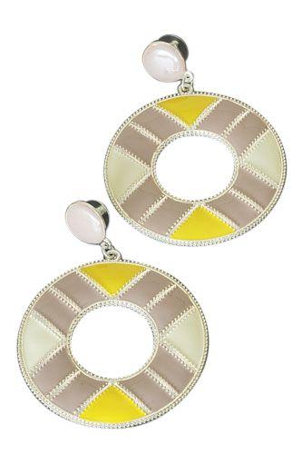 35913459719e4d Metalen retro oorbellen rond. Voor 16 00 besteld is direct verzonden - € 3