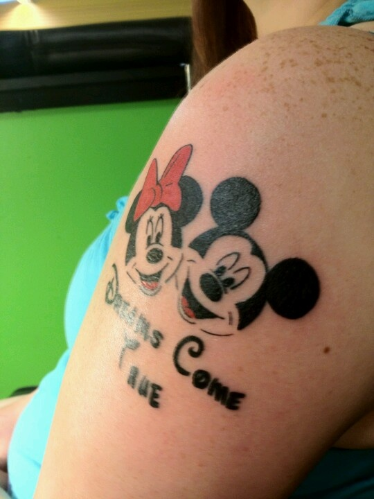new minnie and mickey tattoo