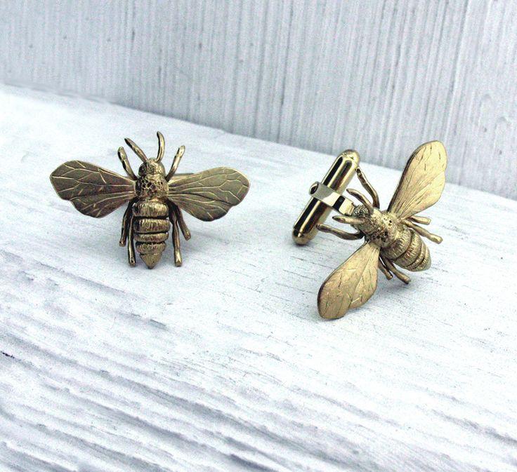 Will Bishop Gold Vermeil Honey Bee Cufflinks £210