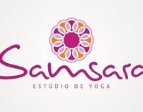 Logo Samsara Estúdio de Yoga by Guilherme Segal, via Behance