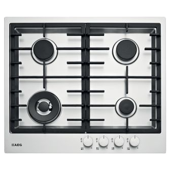 AEG stainless steel 4 burner cooktop (model HG60FXA) for sale at L & M Gold Star (2584 Gold Coast Highway, Mermaid Beach, QLD). Don't see the AEG product that you want on this board? No worries, we can order it in for you!
