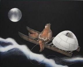 Moonspirit II, by Germaine Arnaktauyok, Igloolik, 2005