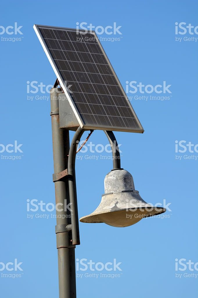 Solar Powered Street Lamp royalty-free stock photo