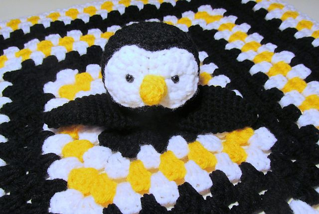 Penguins are vastly overlooked in crochet. Here's a Penguin Lovey crochet pattern by Heather Sonnenberg