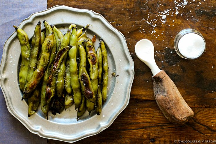 Garlicky Roasted Fava Beans--made easy without any double-shelling!