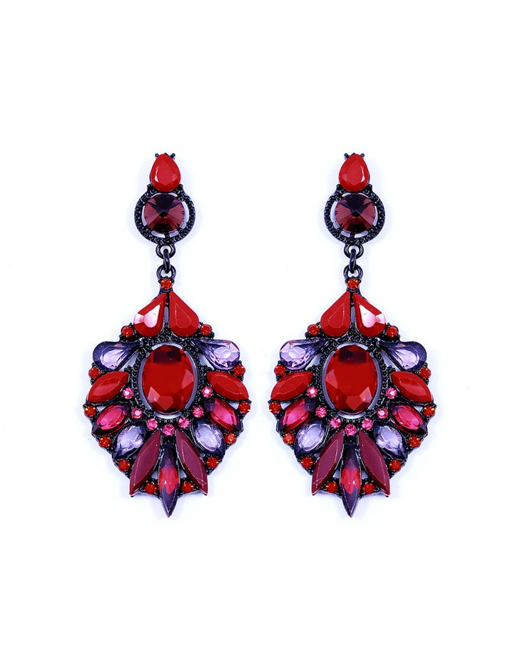 red earrings www.mischa.ro
