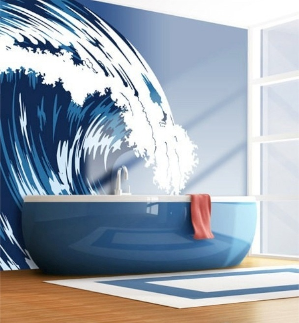 Best Bagni A Stelle Images On Pinterest Teak And Totems - Blue bath mat for bathroom decorating ideas