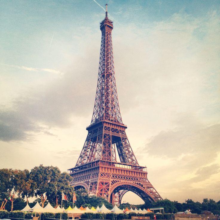 Eiffel Tower, the golden hour