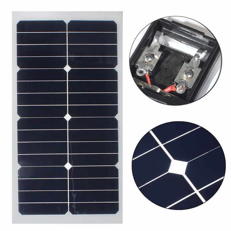 Elfeland 20W 12V Mono Semi Flexible Solar Panel With Sun Power Chip For Battery Charger Boats Caravan