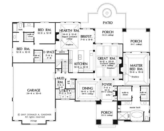 fantastic upstairs living house plans. Hearth nook kitchen living room are fantastic  First Floor Plan of The Fincannon House Number 1234 LOVE the mud area with powder 101 best NEW Plans images on Pinterest Future house
