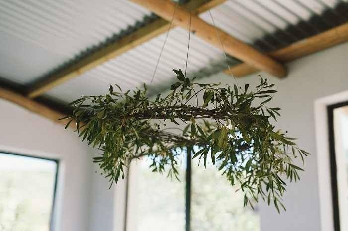 opus florist cape town olive branch wreath via Gardenista
