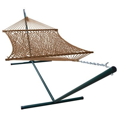 Buyers Choice Phat Tommy Super Soft Polyester Wide Hammock and Stand Color: Mocha