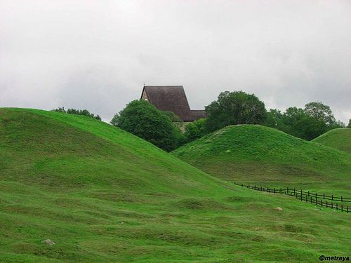 Viking tombs, Uppsala, Sweden by Fille de l'Air, via Flickr