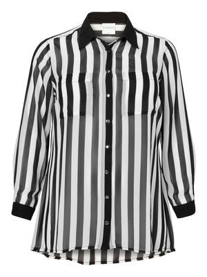Striped shirt from JUNAROSE  #print #stripes #shirt @JUNAROSE