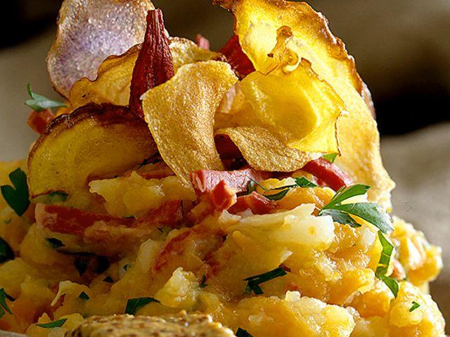 Rotmos, fläsklägg och chips (kock recept.nu)