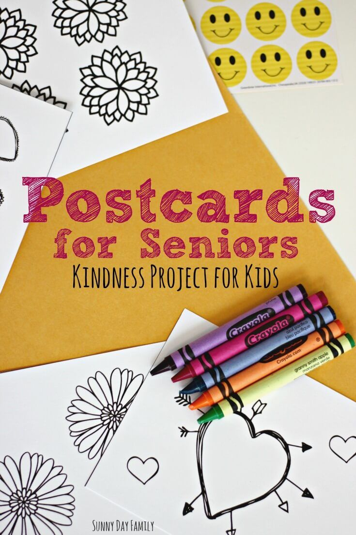 Kindness crafts for preschoolers - Make And Mail Postcards To Seniors A Wonderful Kindness Project For Kids Use The