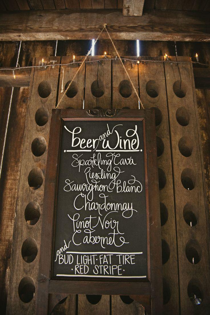 wedding menu ideas for rustic wedding (JL Photografia)