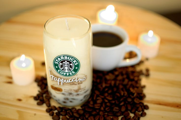 DIY: Starbucks glass bottle candle