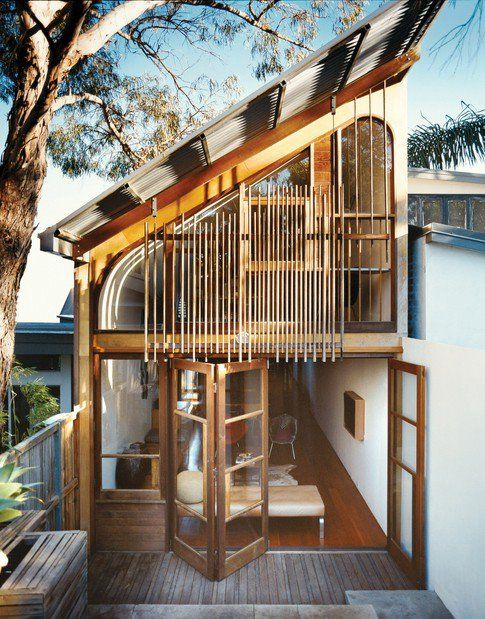 via The Black Workshop: Window, Woods House, Interiors Design, Wooden House, Folding Doors, Trees House, Architecture, Bedrooms Interiors, Modern Design