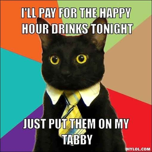 Emilio, the cat from the Business Cat meme . | 44 Of The Most Important Black Cats In Black Cat History
