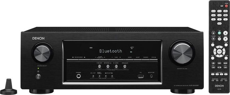 Denon - AVR 5.2-Ch. 4K Ultra HD and 3D Pass-Through A/V Home Theater Receiver - Black