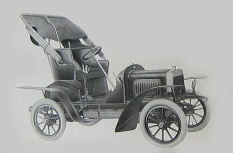 Premier modèle Laurin-Klement de voiture légère. Type A 1905-06 à moteur deux cylindres en V.