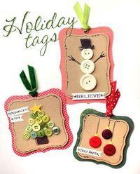 Christmas button tags
