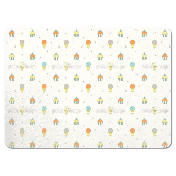 Uneekee Muffin and Ice Cream Placemats (Set of 4) (Muffin And Ice Cream Placemat), Multi (Polyester)